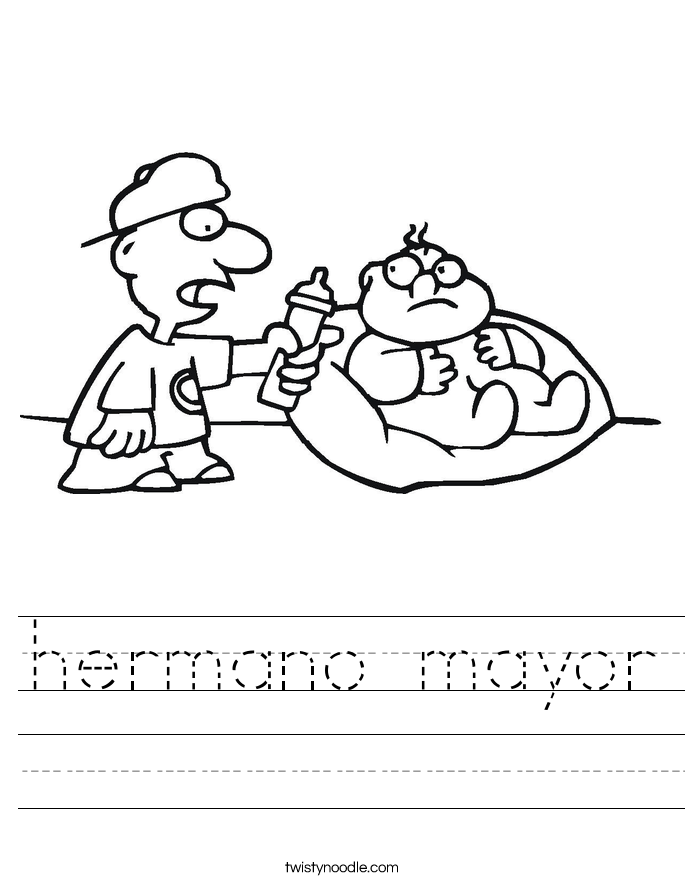 hermano mayor Worksheet