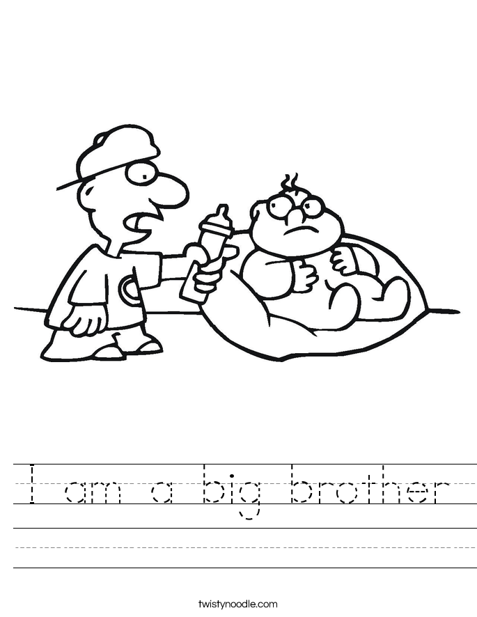 I am a big brother Worksheet