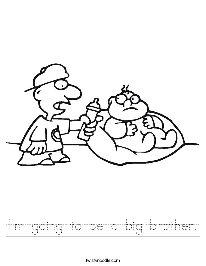 I'm going to be a big brother! Worksheet