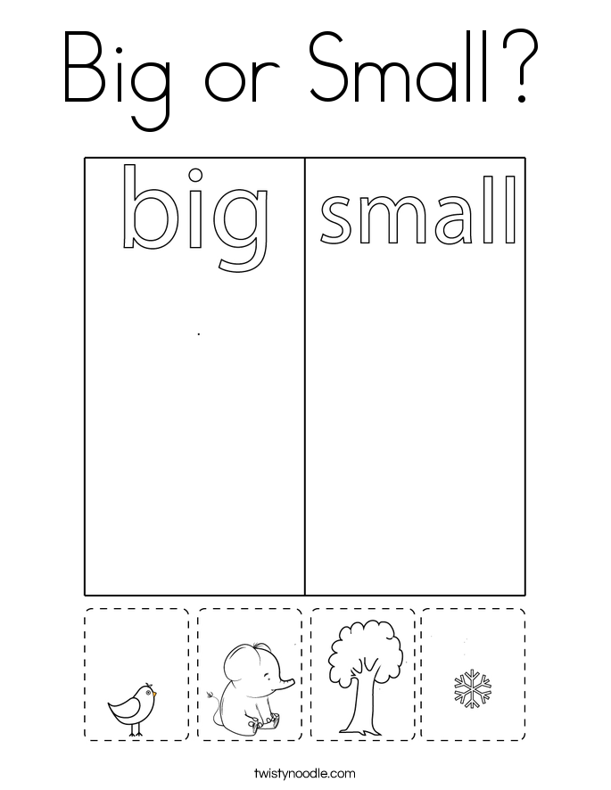 Big or Small? Coloring Page