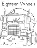 Eighteen Wheels Coloring Page
