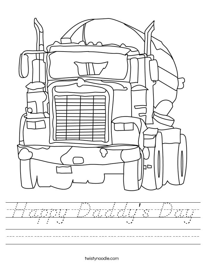 Happy Daddy's Day Worksheet