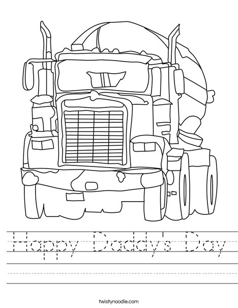 Big Rig Worksheet