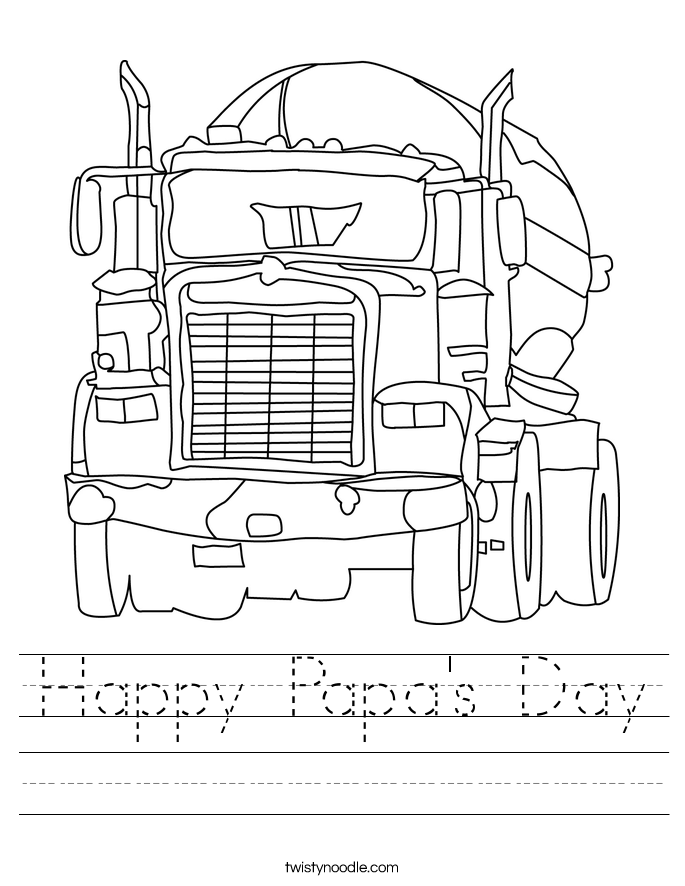 Happy Papa's Day Worksheet