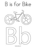 B is for Bike Coloring Page