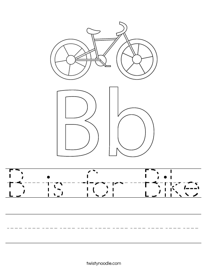 B is for Bike Worksheet