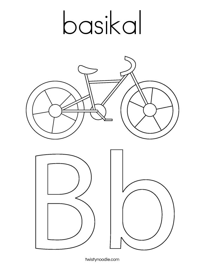 basikal Coloring Page
