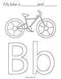 My bike is ________and ______. Coloring Page