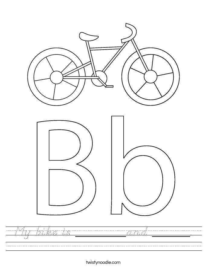 My bike is ________and ______. Worksheet