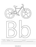 My bike is ________and ______. Worksheet