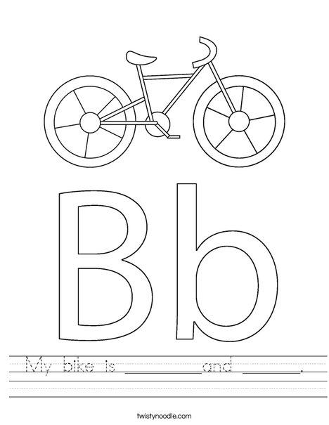 Kids Bike Worksheet
