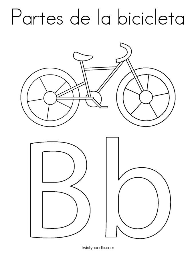 Partes de la bicicleta Coloring Page