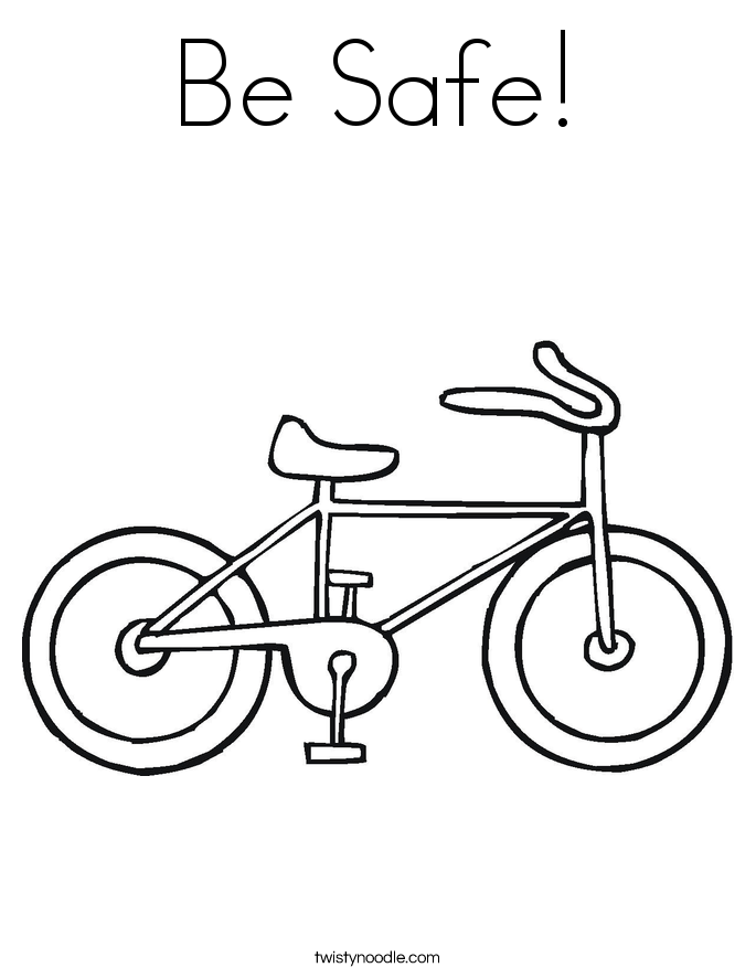 Be Safe! Coloring Page