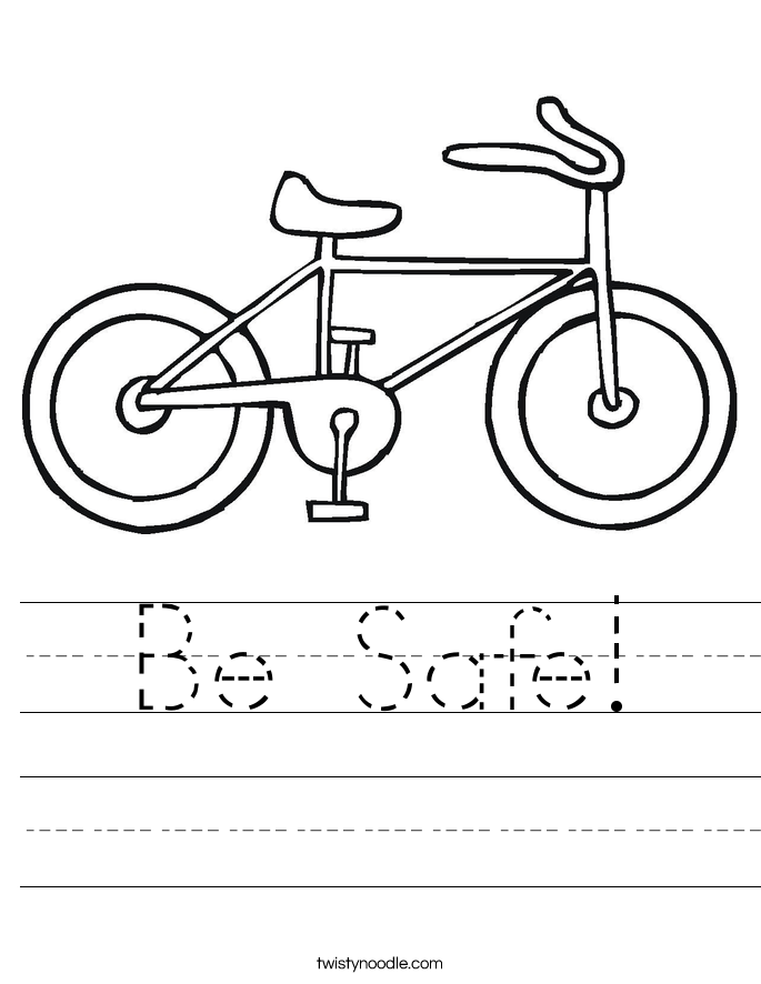 Be Safe! Worksheet
