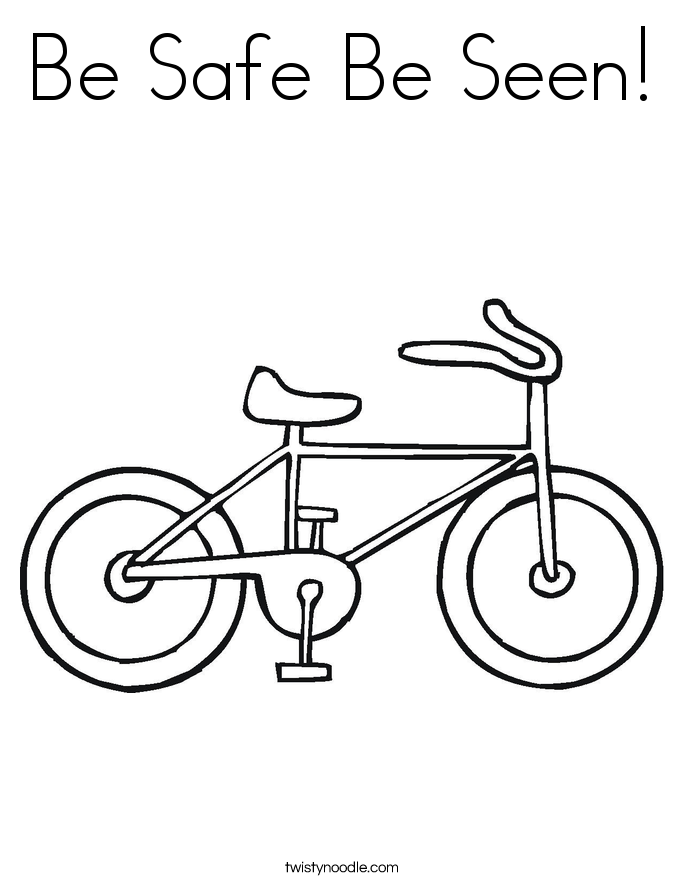 Be Safe Be Seen! Coloring Page