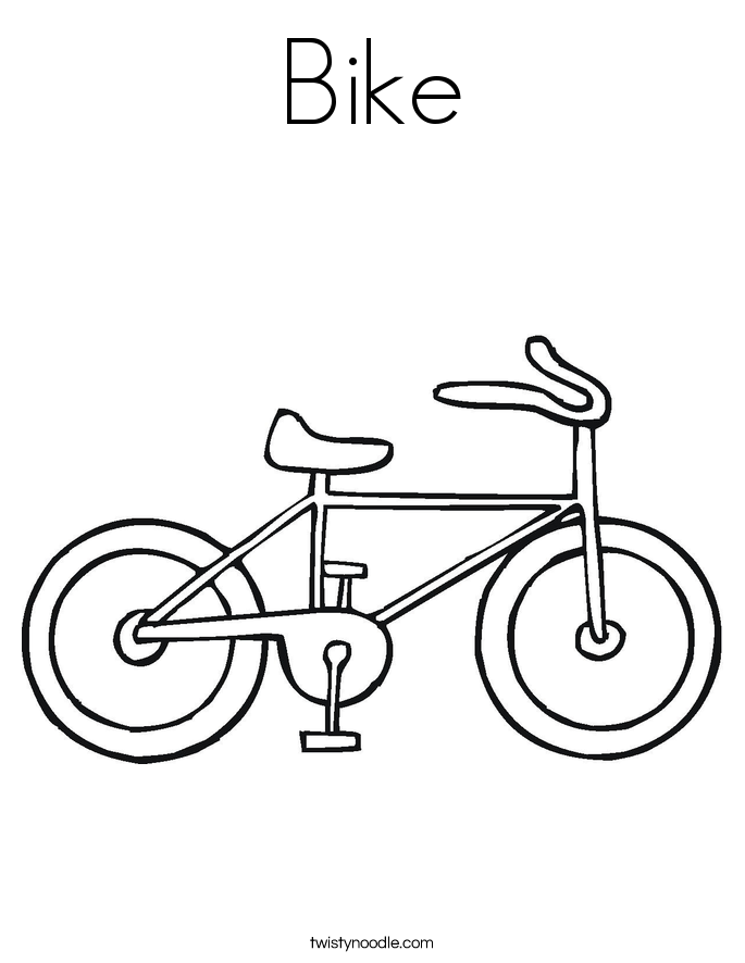Bike Coloring Pages Simple Bike Coloring Pages  Twisty Noodle 2017