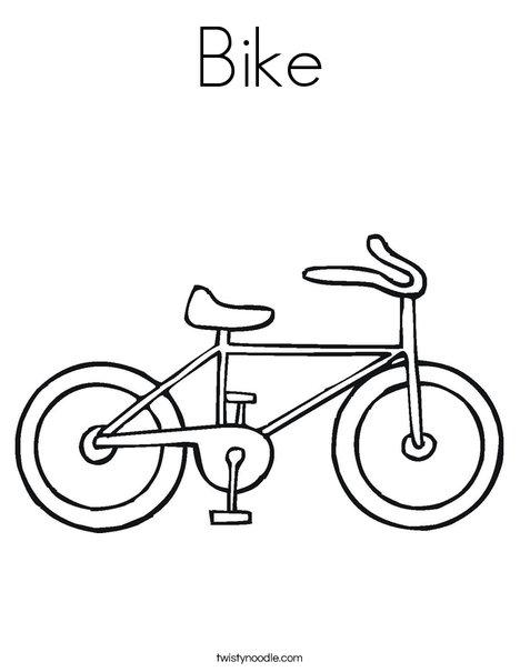 Bike 3 Coloring Page. Bike 3 Coloring Page. Kindergarten. Water Animals Worksheets For Kindergarten At Mspartners.co