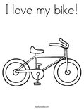 I love my bike! Coloring Page