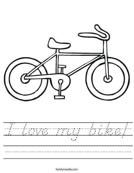 Bike Worksheet
