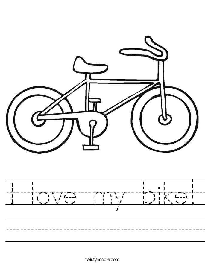 I love my bike! Worksheet