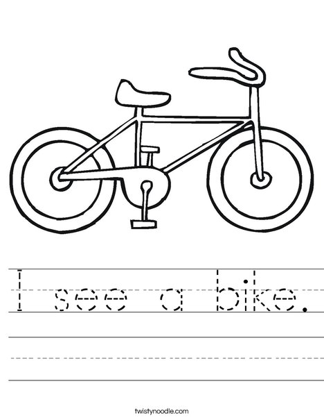 Bike Worksheet