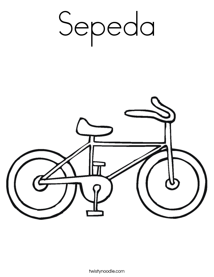 Sepeda Coloring Page