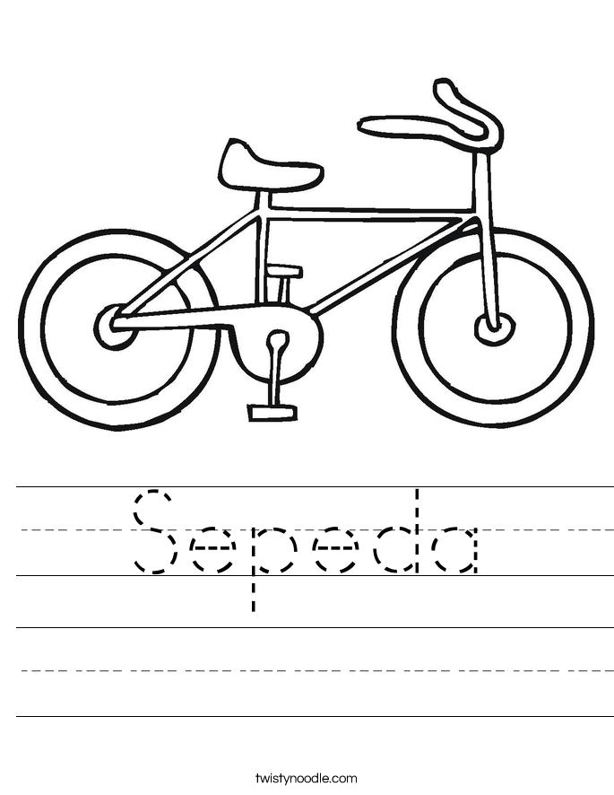 Sepeda Worksheet