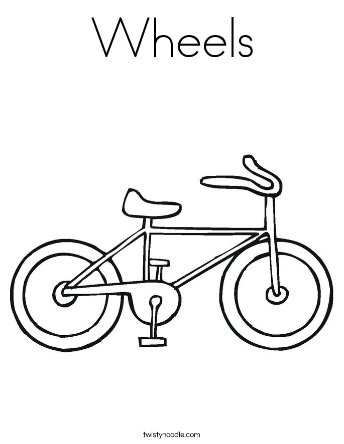 Wheels Coloring Page
