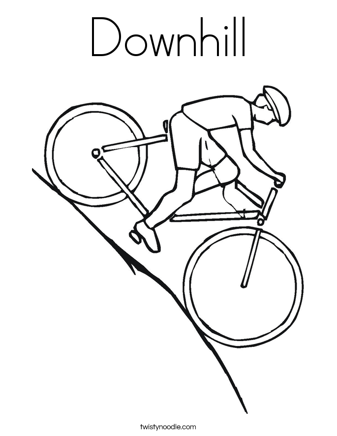 downhill coloring page - Bike Coloring Pages
