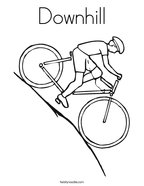 Downhill Coloring Page