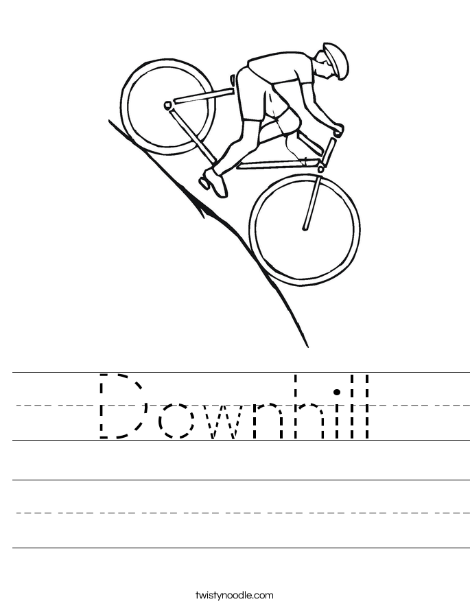 Downhill Worksheet