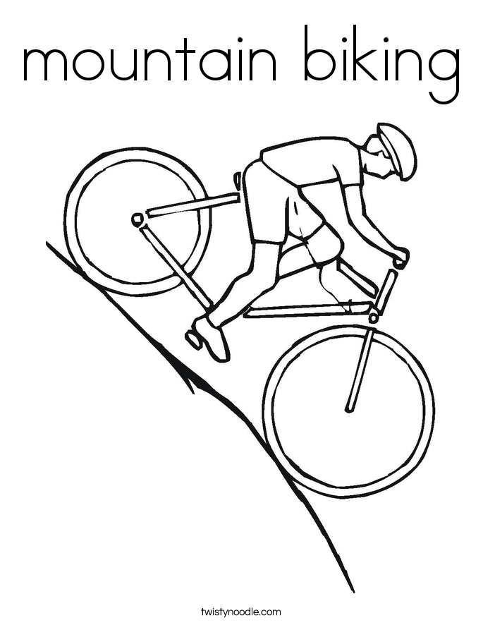 mountain biking Coloring Page