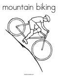 mountain bikingColoring Page