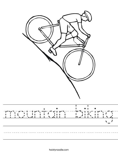 Bike Going Downhill Worksheet