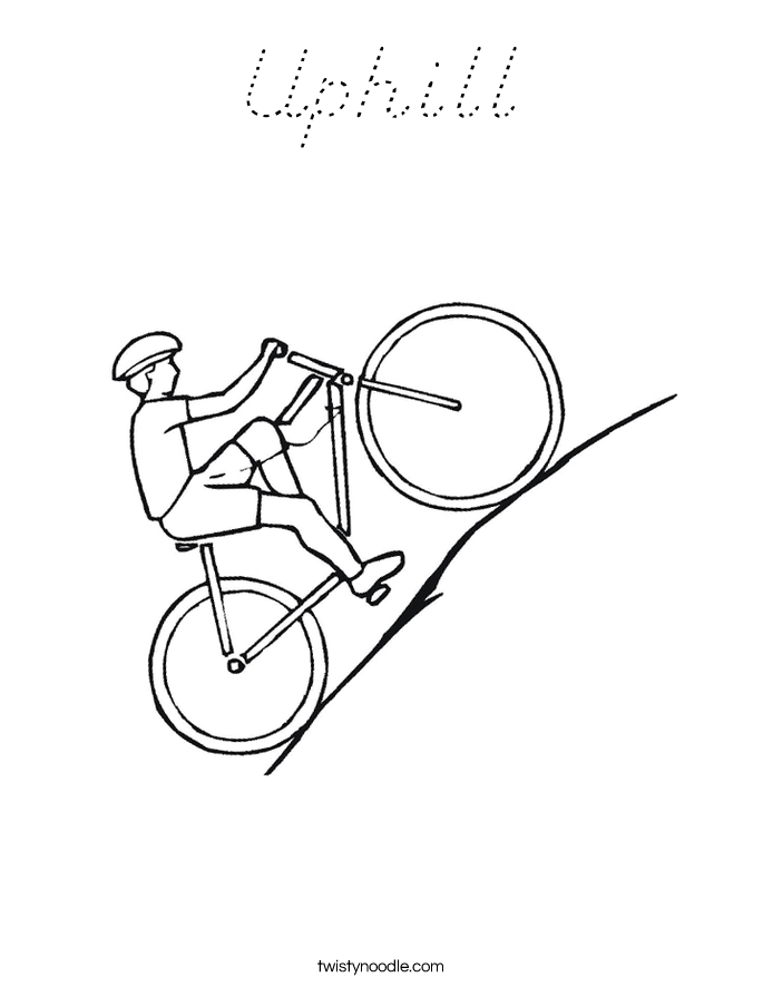 Uphill Coloring Page
