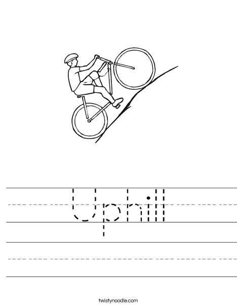 Bike going uphill Worksheet