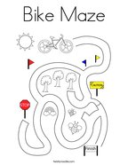 Bike Maze Coloring Page