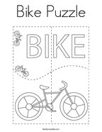 Bike Puzzle Coloring Page