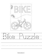 Bike Puzzle Handwriting Sheet