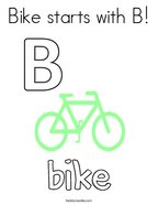 Bike starts with B Coloring Page