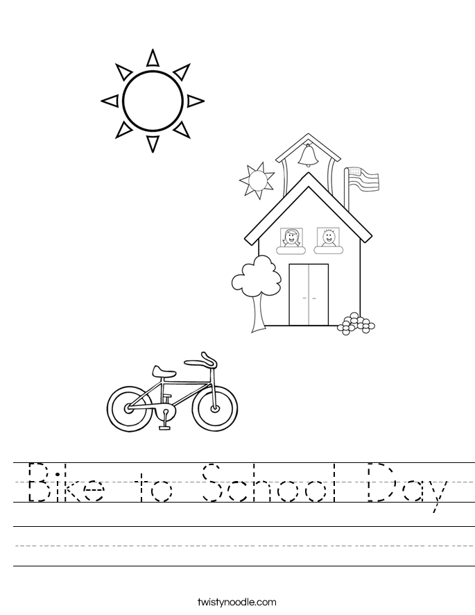 Bike to School Day Worksheet