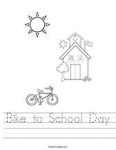 Bike to School Day Worksheet