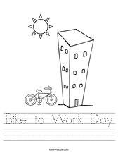 Bike to Work Day Worksheet