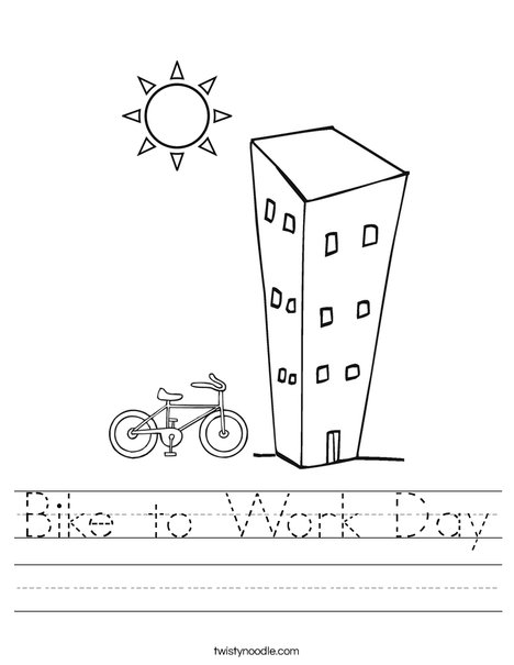 Bike to Work Day Worksheet