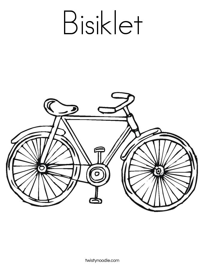 Bisiklet Coloring Page