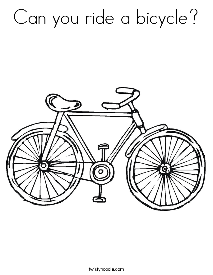 Can you ride a bicycle? Coloring Page