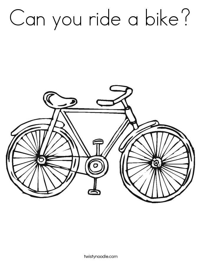 Can you ride a bike? Coloring Page