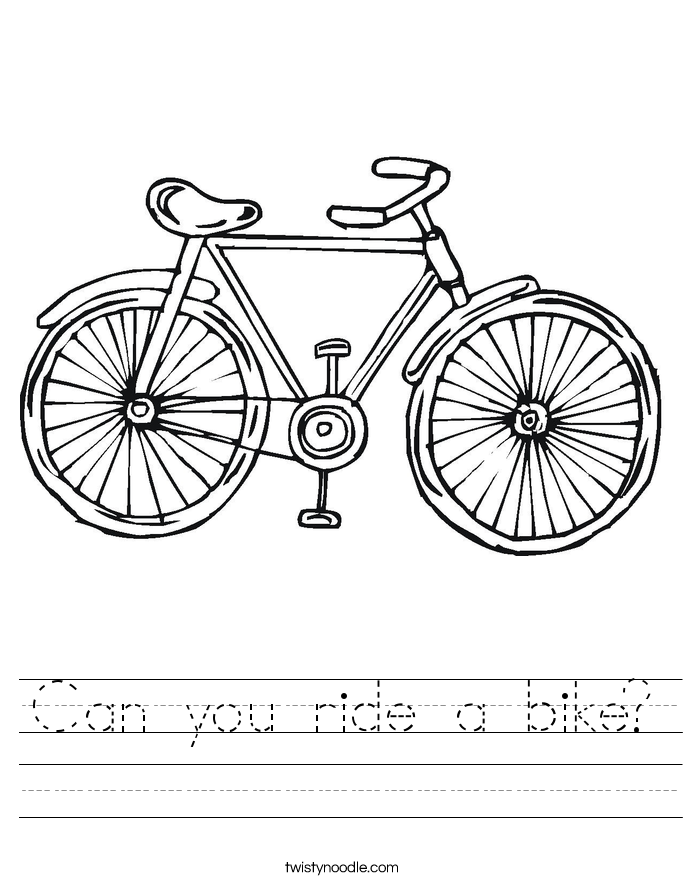 Can you ride a bike? Worksheet