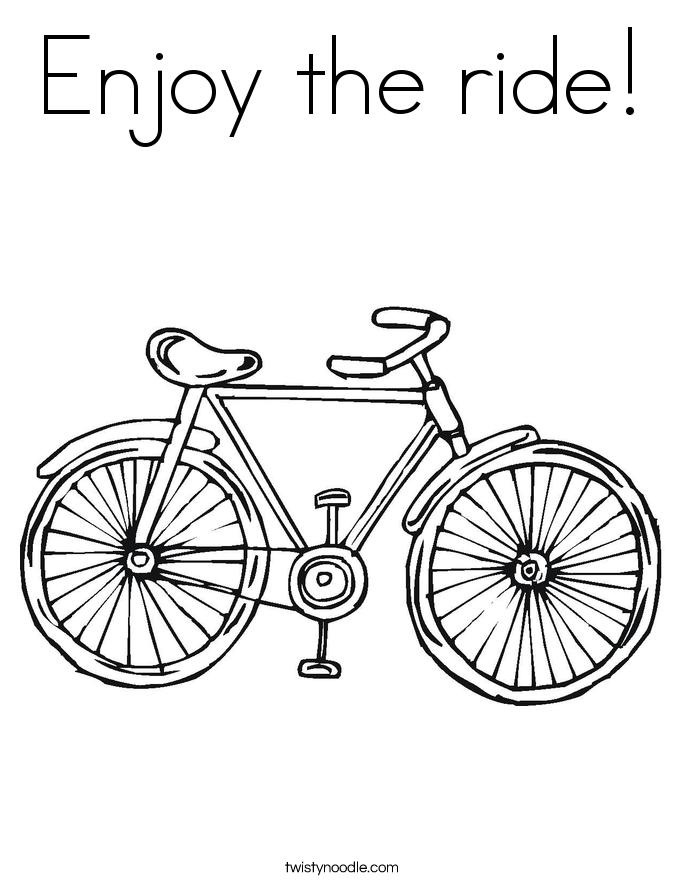 Enjoy the ride! Coloring Page