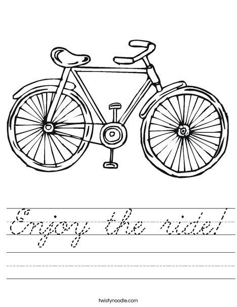 Bicycle Worksheet